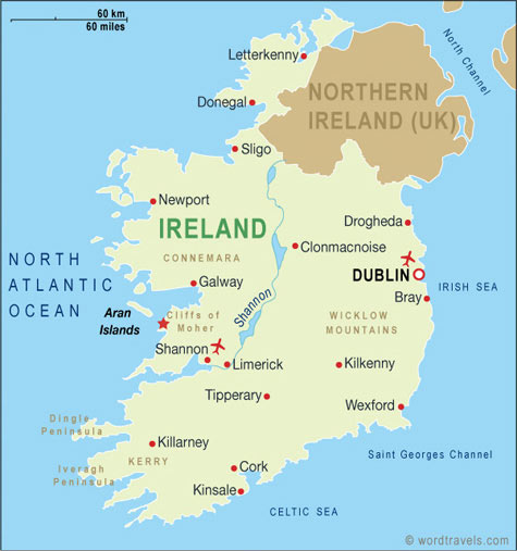 Ireland map Ill Be Right Back