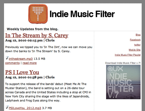 imf newsletter2 Indie Music Filter Now Has A Newsletter!