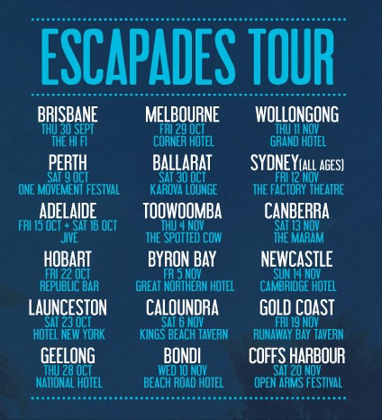escapades tour