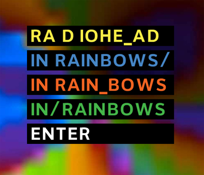 Radiohead's In Rainbows album out Oct. 10th