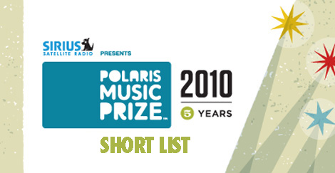 polaris short list 2010
