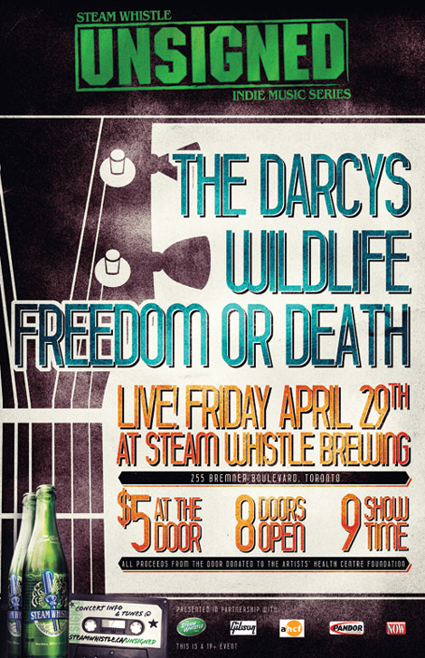 unsigned darcys Contest: Steamwhistle Unsigned Concert Series